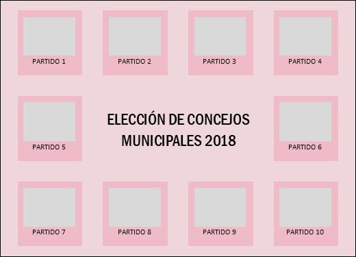 Papeleta para elección de Consejos Municipales 2018