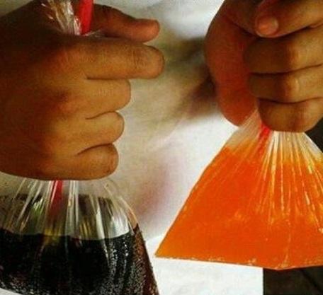 Gaseosa o soda en bolsa