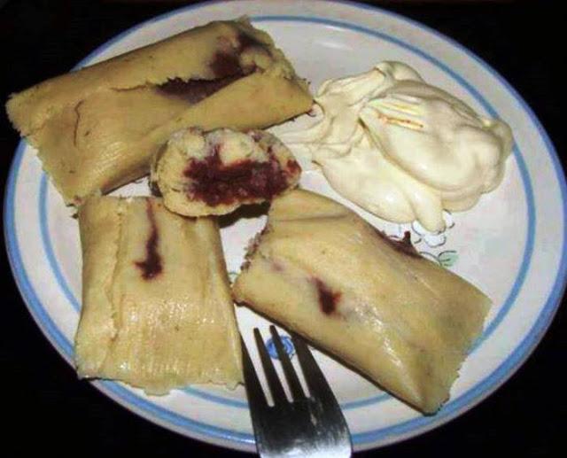 Tamales pisques de El Salvador