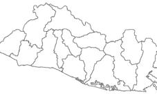 Mapa de El Salvador para colorear