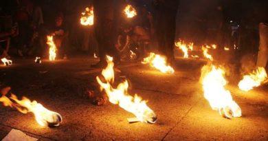 Las bolas de fuego en Nejapa