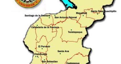 División política del departamento de Santa Ana
