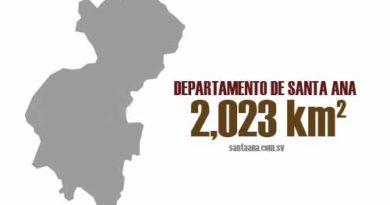 Extensión territorial del departamento de Santa Ana