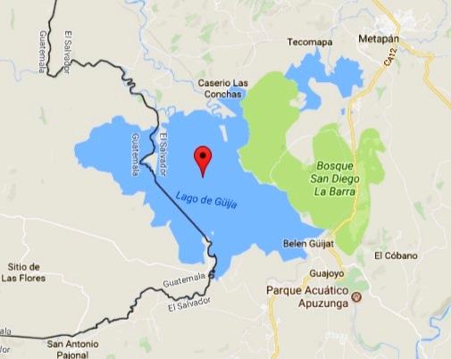 Ubicación del lago de Guija
