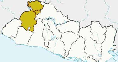 Mapa de ubicación de Santa Ana en El Salvador