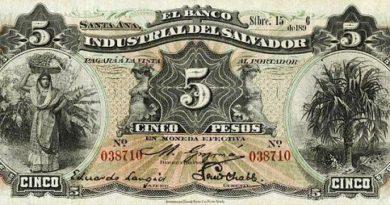 Los primeros billetes de El Salvador
