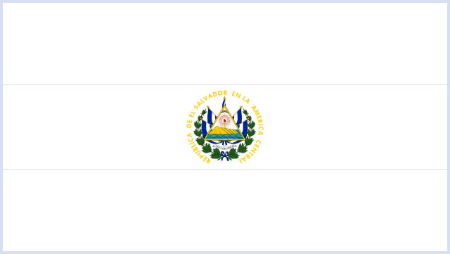 Bandera de El Salvador para colorear con escudo