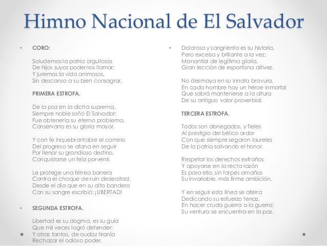 Himno nacional de El Salvador