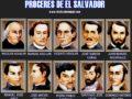 Próceres de la independencia de El Salvador
