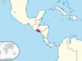 Ubicación de El Salvador en América Central
