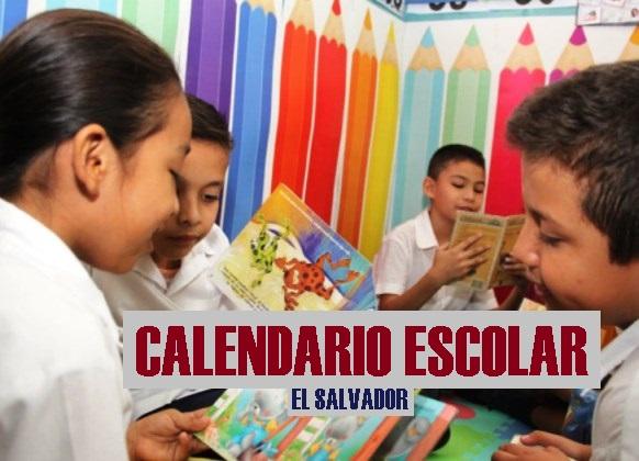 Calendario escolar 2018 El Salvador