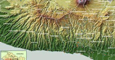 Mapa de la cordillera del Bálsamo