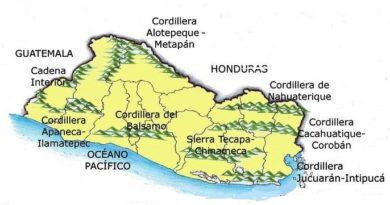 Cordilleras de El Salvador (nombres y ubicación)