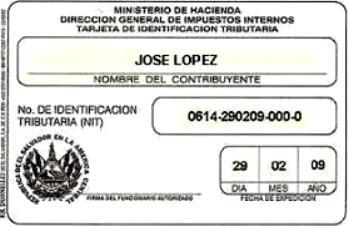 Requisitos para sacar el NIT en El Salvador