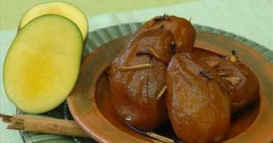 Mangos en miel (receta)
