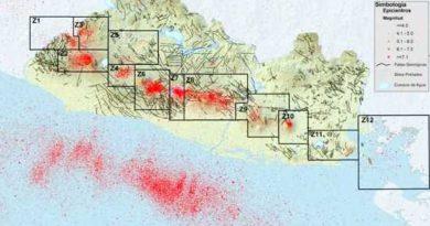 Zonas sísmicas de El Salvador