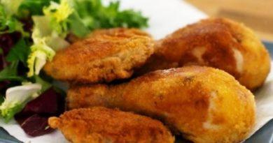 Pollo empanizado (receta)