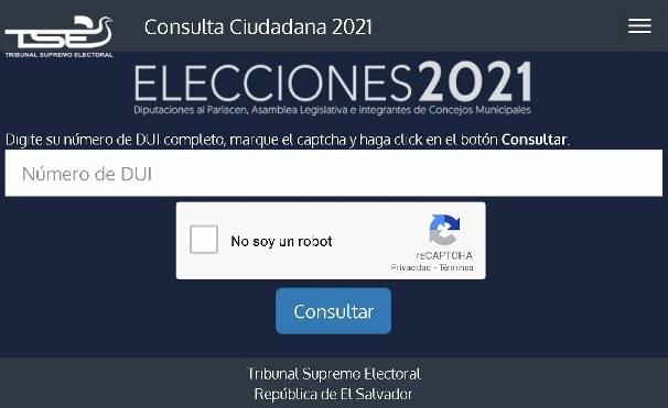 Votar 2021 El Salvador