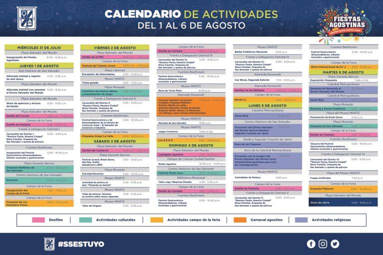 Programación fiestas agostinas 2019