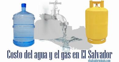 Costo del agua y del gas en El Salvador