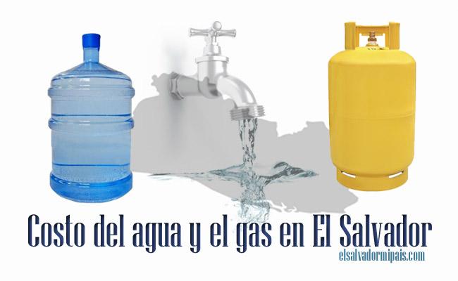 Costo del agua y el gas en El Salvador