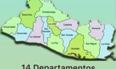 Extensión territorial de los departamentos de El Salvador