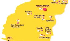 Mapa de Ahuachapán