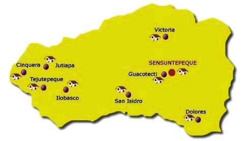 Mapa de Cabañas