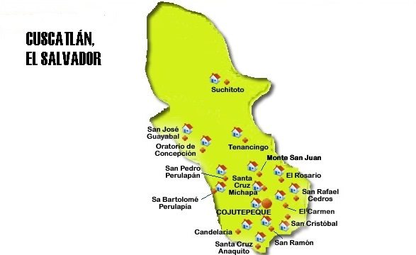 Mapa de Cuscatlán