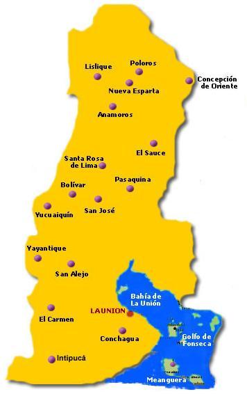 Mapa de La Unión