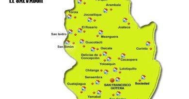 Mapa de Morazán
