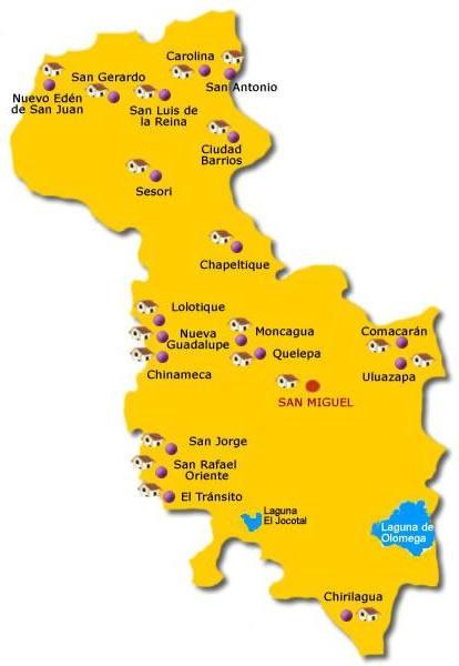 Mapa de San Miguel