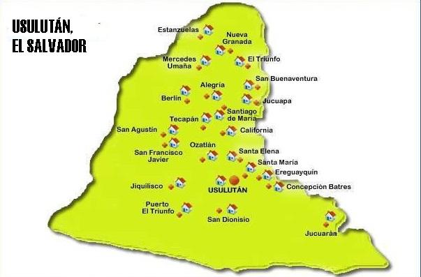 Mapa de Usulután