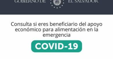 Consultar beneficio de $300 otorgado por el gobierno de El Salvador